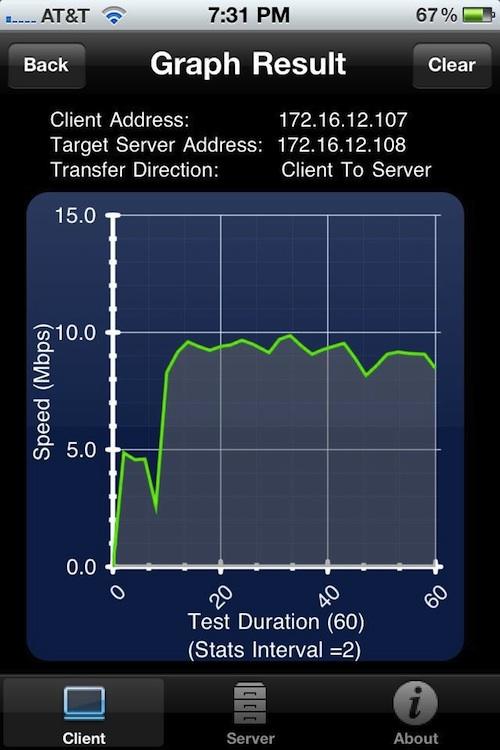 WiFi Speed Test App WiFiPerf 1 3 1 Adds Realtime Plots